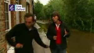 Sue Turton - C4 News UK - Oxford - backside pinched