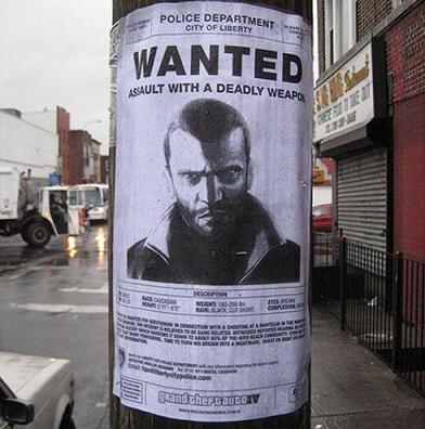 Wanted : GTA IV dead or alive