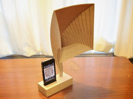 ivictrola un dock iphone vintage en bois un blog de bretagne. Black Bedroom Furniture Sets. Home Design Ideas