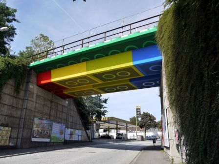 pont en lego, lego bridge germany