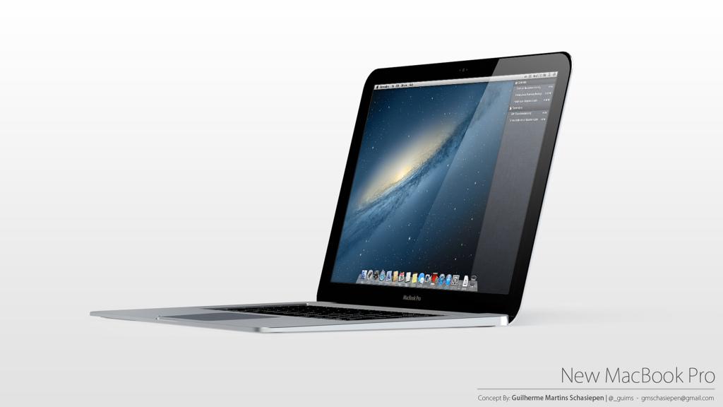 un nouveau design de macbook pro ultra slim d u00e9voil u00e9  guilherme schasiepen concept