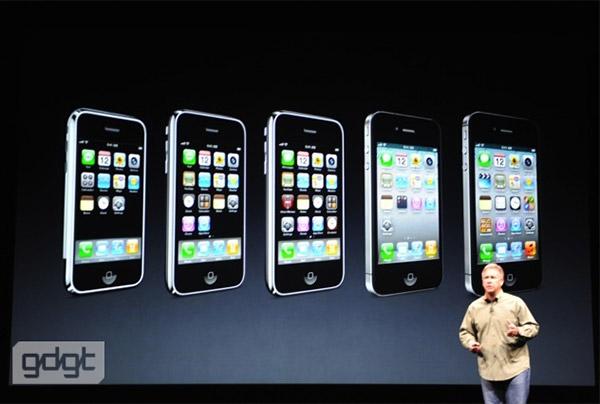 Screens de la Keynote du 12septembre 2012Iphone 1 Vs Iphone 2